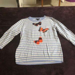 JCrew Butterfly Sweater Shirt